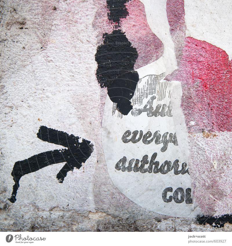 White Black Wall (building) Graffiti Style Wall (barrier) Gray Pink Dirty Esthetic Creativity Idea Uniqueness Broken Paper Arrow