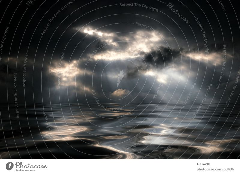 Ocean Calm Clouds Life Dark Lake Waves Hope Threat Desire Infinity Longing Fluid God Heavenly Deities