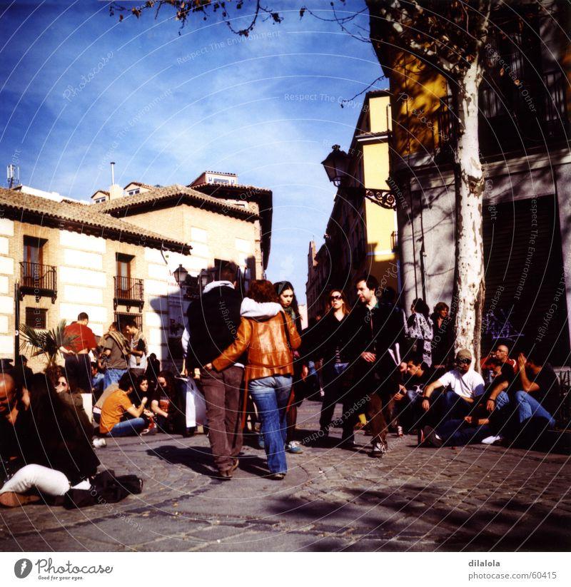 primavera Jump La Latina Madrid Lomography Joy young people lubitel 166b sunny day happiness walk sunday morning