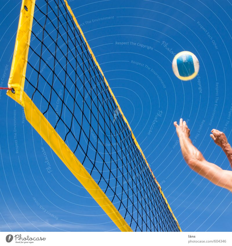 Human being Sky Blue Summer Sun Hand Joy Beach Yellow Movement Sports Playing Leisure and hobbies Power Arm Beautiful weather