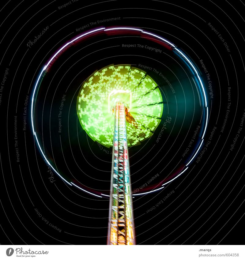 Concentric Style Joy Night life Entertainment Fairs & Carnivals Line Circular Carousel Theme-park rides Round Speed Movement Colour photo Multicoloured