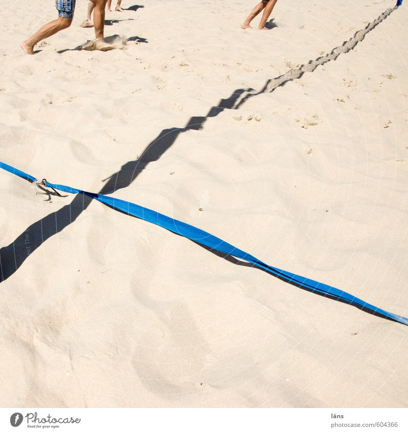 Human being Summer Joy Beach Sports Playing Sand Legs Line Feet Brown Group Walking Places Joie de vivre (Vitality) Playing field