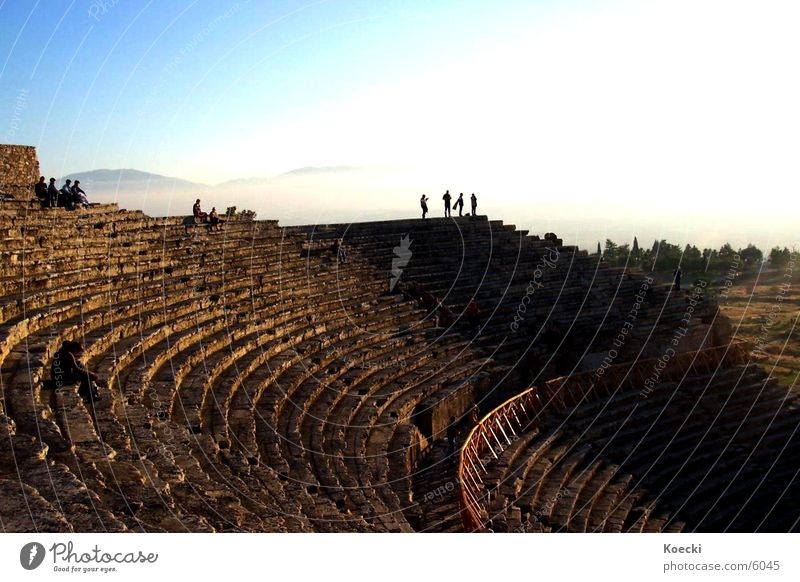 Human being Sun Architecture Theatre Column Turkey Greek Amphitheatre