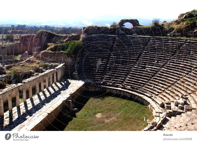 Vacation & Travel Stone Warmth Architecture Broken Physics Theatre Ruin Destruction Turkey Science & Research Amphitheatre