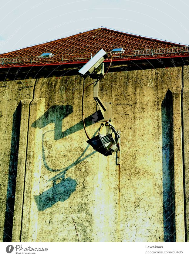 Stone Wall (barrier) Metal Concrete Roof Camera Observe Catch Captured Criminality Penitentiary Grating Criminal Jail sentence Nuremberg Monitoring