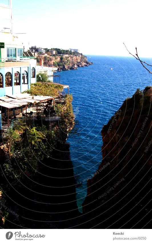 Water Sun Ocean House (Residential Structure) Stone Lake Warmth Bar Physics Café Turkey Cliff Antalya