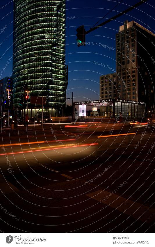 City Street Life Dark Berlin Movement Car Germany Time Transport Speed Future Driving Mixture