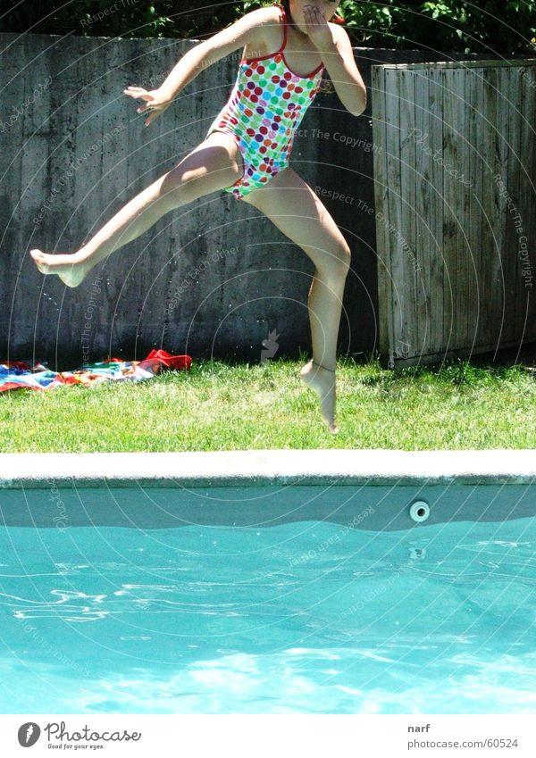 Girl Summer Jump Swimming pool