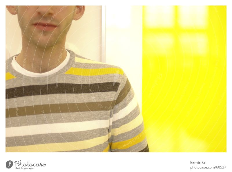 Yellow Image Stripe Sweater Cotton Polyester