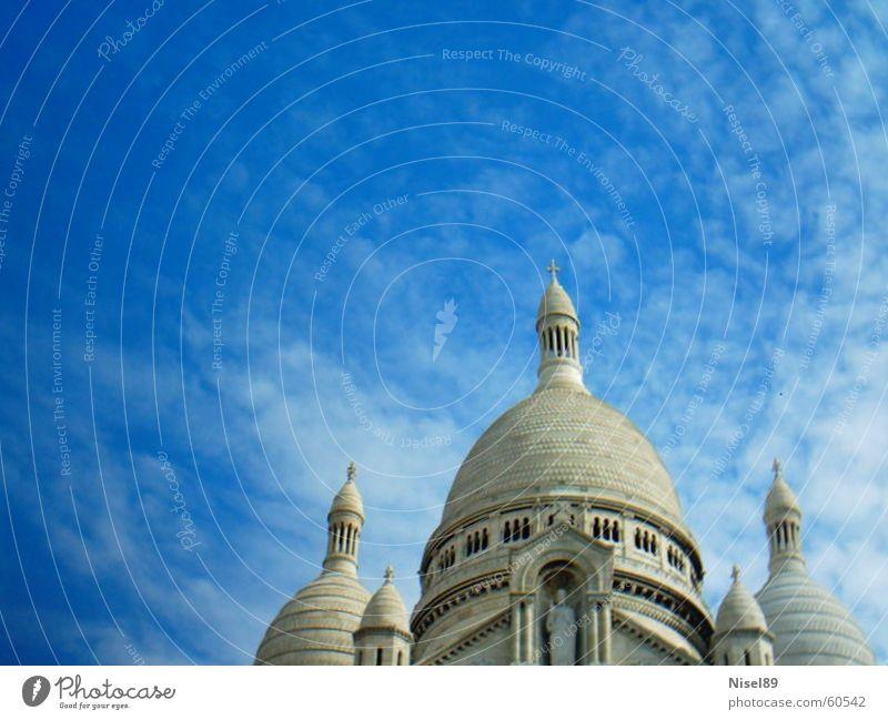 blue sky above the curch Religion and faith Blue church