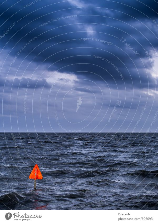 Sky Blue Ocean Clouds Black Orange Wind Signs and labeling North Sea Bad weather Storm clouds
