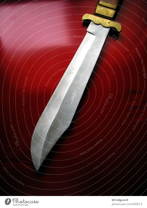 Red Dangerous Threat Sharp thing Steel Knives Blade Brass Tool Rambo Machete