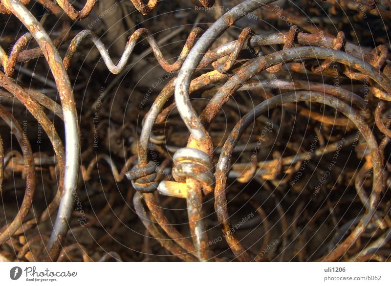 spring one's bed Bedstead Wire Obscure Rust Macro (Extreme close-up) Metal