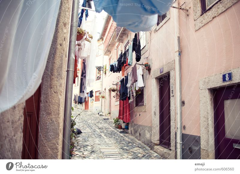 washing day Village Fishing village Small Town Old town House (Residential Structure) Wall (barrier) Wall (building) Facade Cloth Laundry Dress Authentic Alley