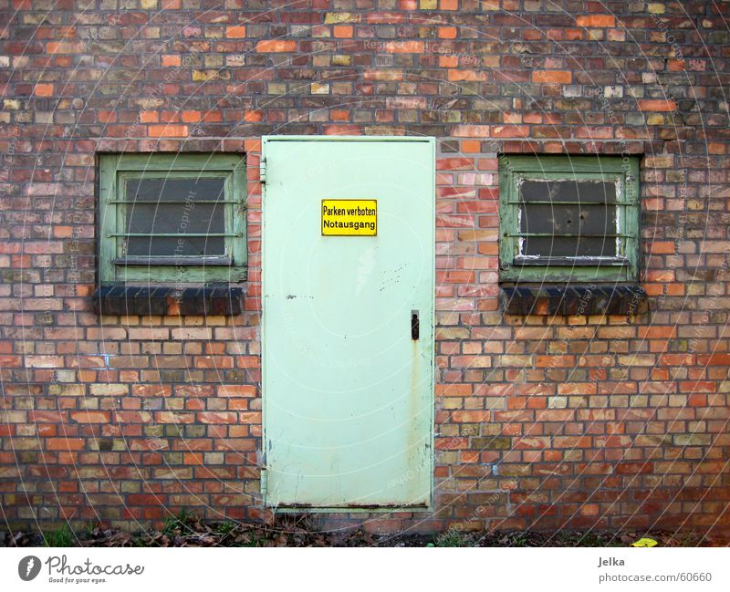 Eyes Window Wall (building) Architecture Wall (barrier) Building Door Facade Nose Authentic Brick Entrance Warehouse Brick wall