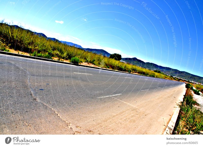 Sky Green Blue Summer Vacation & Travel Street Crazy Crack & Rip & Tear Ibiza