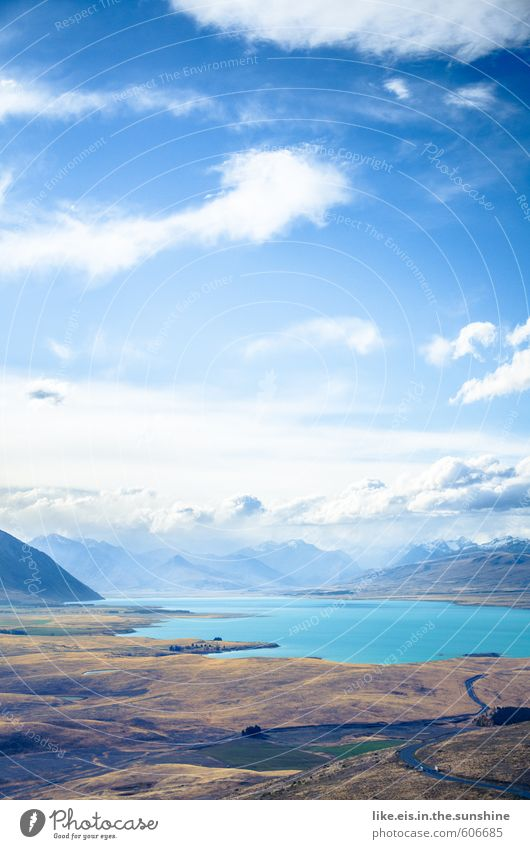 most beautiful lake tekapo. Vacation & Travel Tourism Trip Adventure Far-off places Freedom Sightseeing Summer Summer vacation Environment Nature Landscape Hill