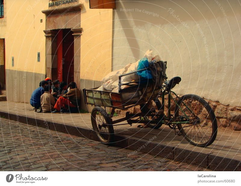 Street Movement Wall (barrier) Bicycle South America Peru Cargo Tricycle Cuzco