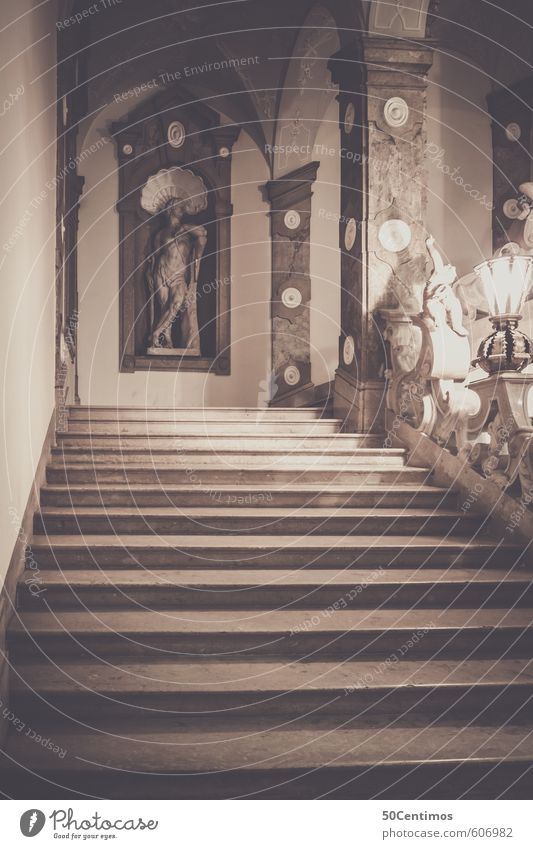 Staircase in Mirabelle Castle, Salzburg Luxury Elegant Tourism Dream house Work of art Event Music Opera house House (Residential Structure) Lock