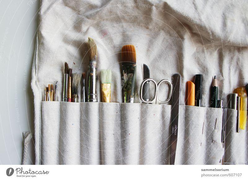 Tool Time Leisure and hobbies Handicraft Handcrafts Craft (trade) Hardware Scissors Art Artist Painter Utilize Colour photo Close-up Neutral Background