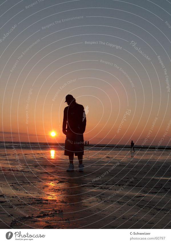 Human being Water Sky Sun Ocean Beach Dusk