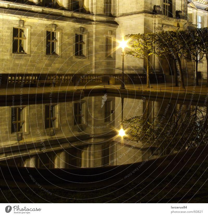 Loneliness Glass Hope Dresden Mirror Lantern Traffic infrastructure Brilliant Night shot