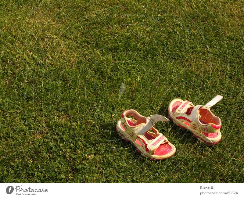 gone playing Footwear Sandal Childrens shoe Playing Still Life Shackled race. play lie around Infancy