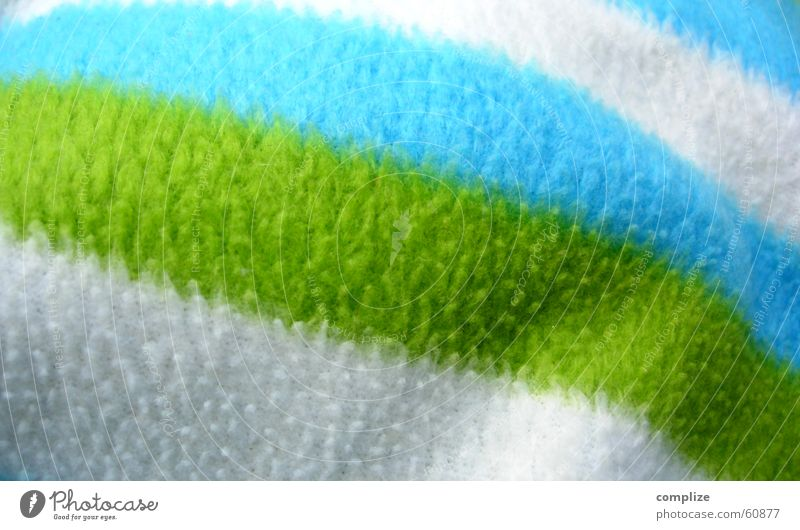 white-and-green-and-blue Wool Plush Soft Cuddly Duvet Homey Blanket Colour Wool blanket Blue Striped Close-up Detail Deserted Copy Space Bright Colours