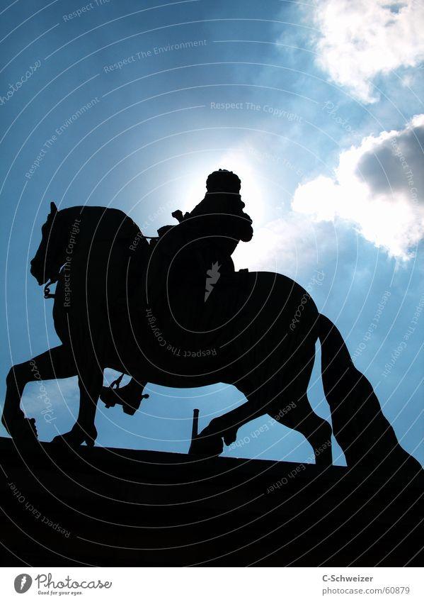 Jan Wellem Jan Wellem equestrian monument Horse Monument Statue Midday Rider Sky Sun