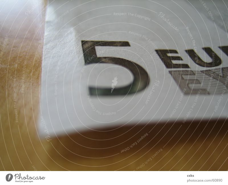 Wood Business Money Paper 5 Euro Paying Financial Industry Costs