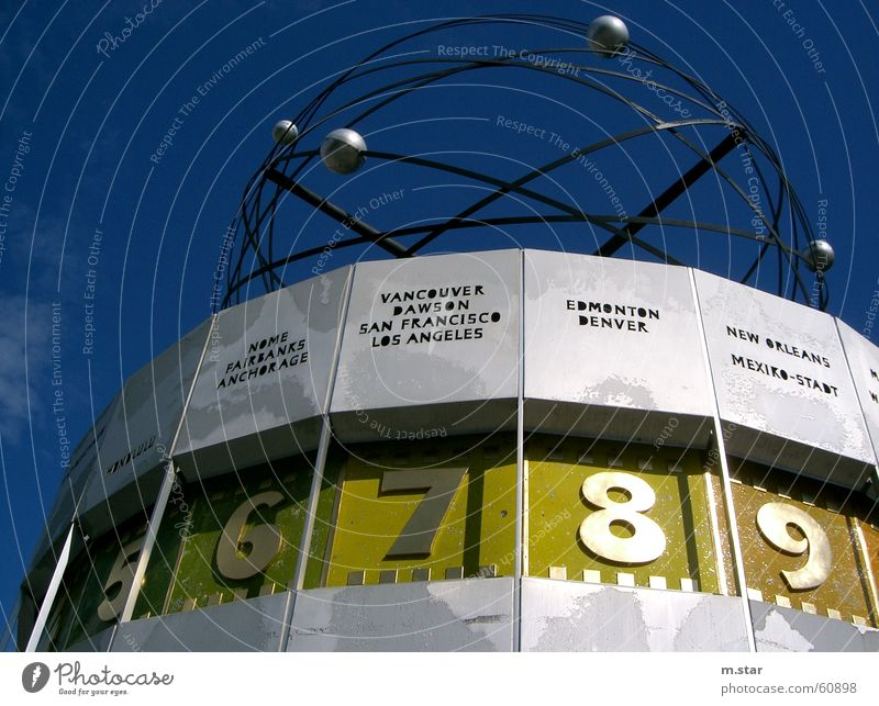 the time is flying ... #1 Clock Time Alexanderplatz Downtown Berlin Americas Digits and numbers World time clock Famousness Sculpture Sculptural