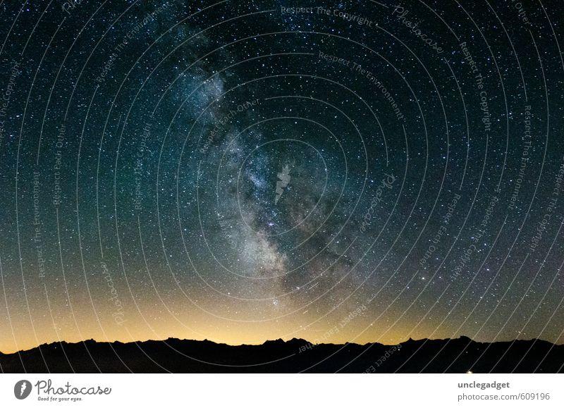 Milchstrasse, Milky Way Sky Night sky Stars Horizon Mountain Fantastic Gigantic Above Joie de vivre (Vitality) Beautiful Hope Belief Humble Loneliness