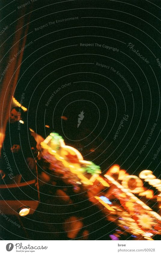 Huui Night Blur Movement Switzerland Autumn fair Theme-park rides Light Lomography carousel Lighting