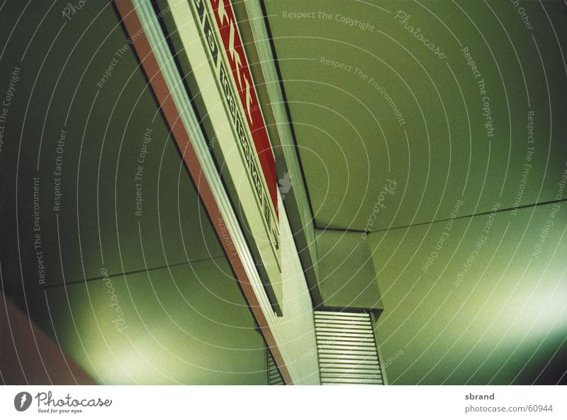 subway stop Underground Green Extra Abstract Reflection Typography Line Architecture