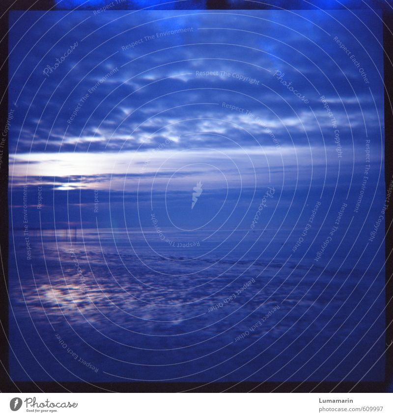 Sky Blue Colour Water Ocean Loneliness Landscape Calm Clouds Beach Far-off places Cold Moody Horizon Dream Air