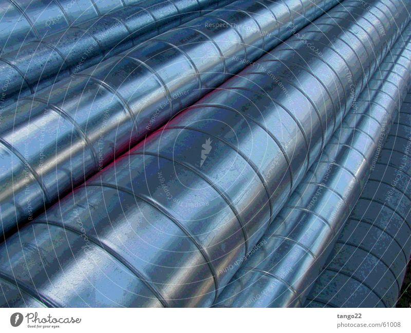 Blue Gray Metal Glittering Round Long Pipe Silver Aluminium