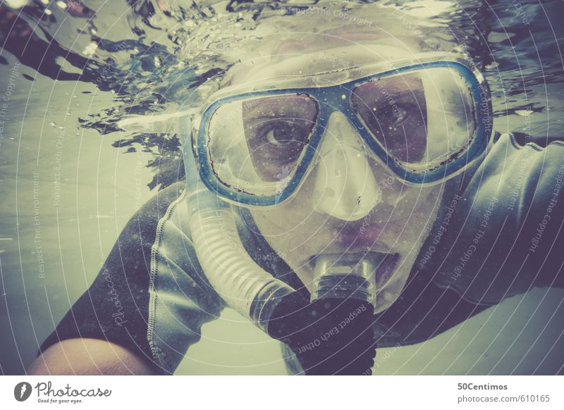 snorkeling Vacation & Travel Tourism Trip Adventure Far-off places Freedom Summer Summer vacation Sun Beach Ocean Aquatics Dive Snorkeling Human being Young man