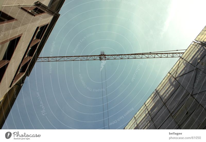 Sky House (Residential Structure) Planning Rope Bridge Construction site Connection Diagonal Crane Scaffold