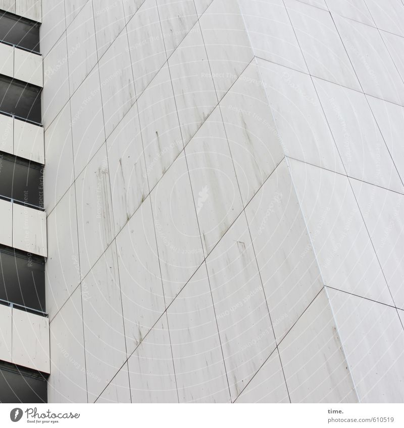 City White Naked Loneliness House (Residential Structure) Cold Window Wall (building) Architecture Wall (barrier) Line Facade Gloomy High-rise Design