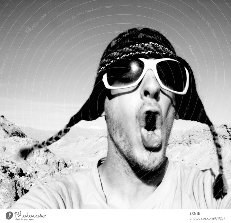 Vacation & Travel Mountain Mouth Sand Wind Eyeglasses Climbing Gale Cap Stupid Hollow Self portrait Doofus Chile Tuft Oral