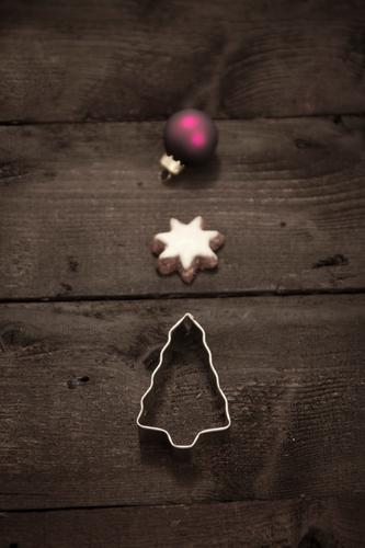 Christmas & Advent Winter Wood Feasts & Celebrations Brown Glass Star (Symbol) Seasons Violet Christmas tree Steel Baked goods Glitter Ball Festive