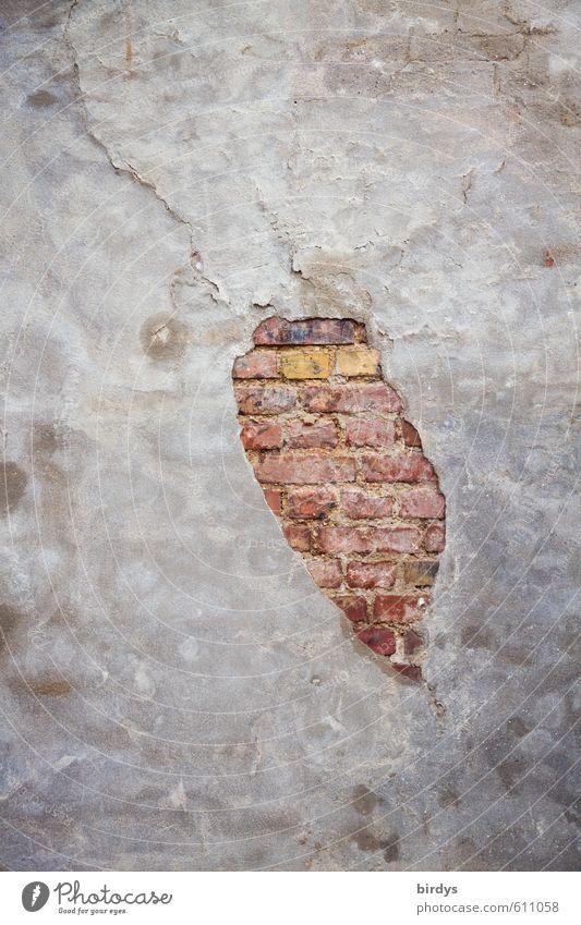 City Calm Wall (building) Senior citizen Wall (barrier) Design Esthetic Broken Change Derelict Brick Positive Original Brick wall Pastel tone Rendered facade