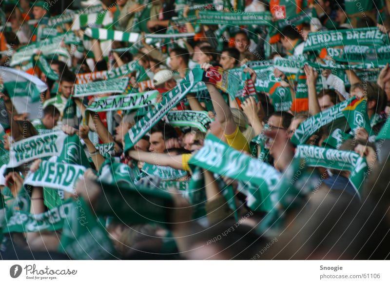 fan curve Bremen Fan Scarf Emotions Green White Werder Havel Joy