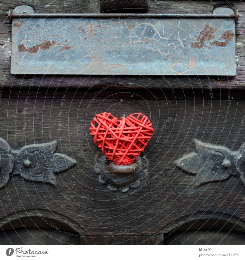 Heart Message Flat (apartment) Decoration Valentine's Day Mother's Day Door Bell Wood Emotions Moody Love Infatuation Romance Senior citizen Decline Past