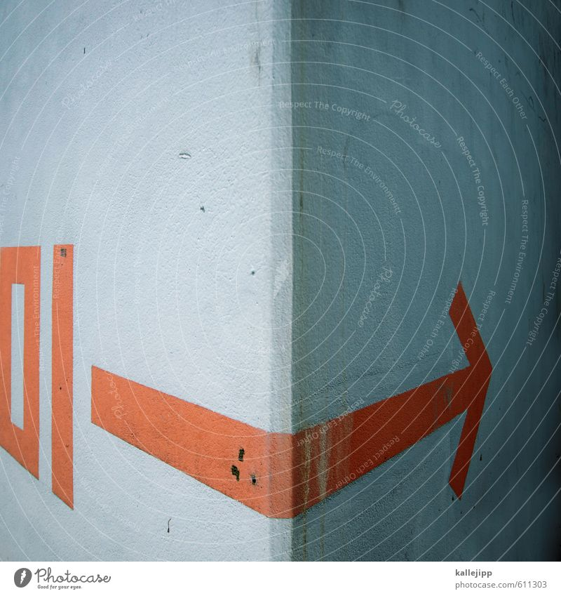 Wall (building) Gray Time Orange Signs and labeling Success Concrete Future Illustration Planning Target Gastronomy Information Arrow Hip & trendy Barrier