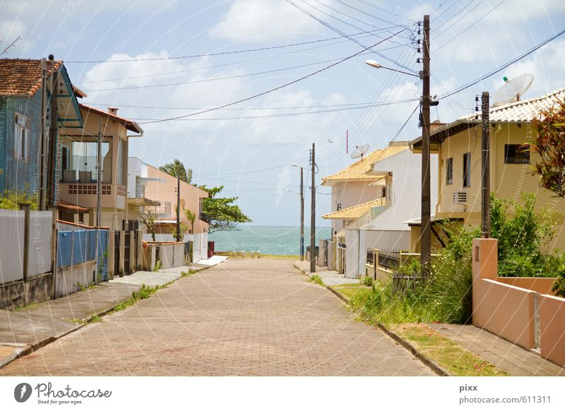Rua liberdade! There's the sea back there! Vacation & Travel Far-off places Summer Beach Ocean House (Residential Structure) Plant Sky Clouds Sun