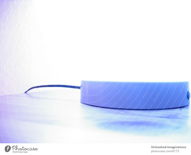 Blue Lamp Overexposure Abstract