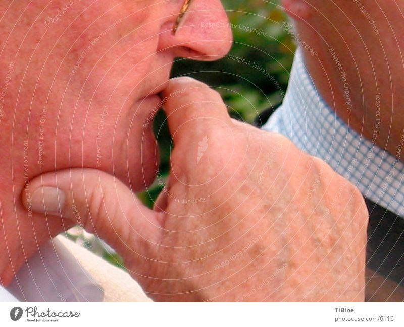 Man Hand Senior citizen Think Male senior