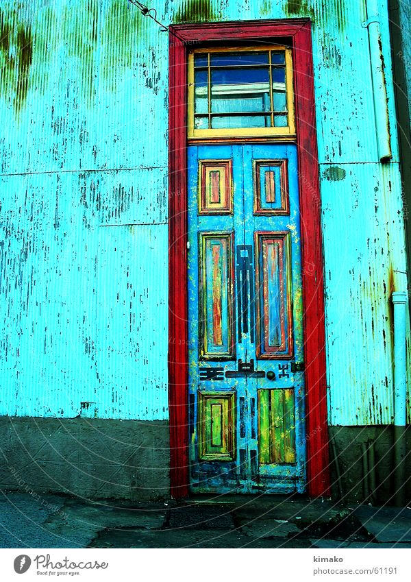 Old Street Colour Door Chile Cross processing Valparaíso