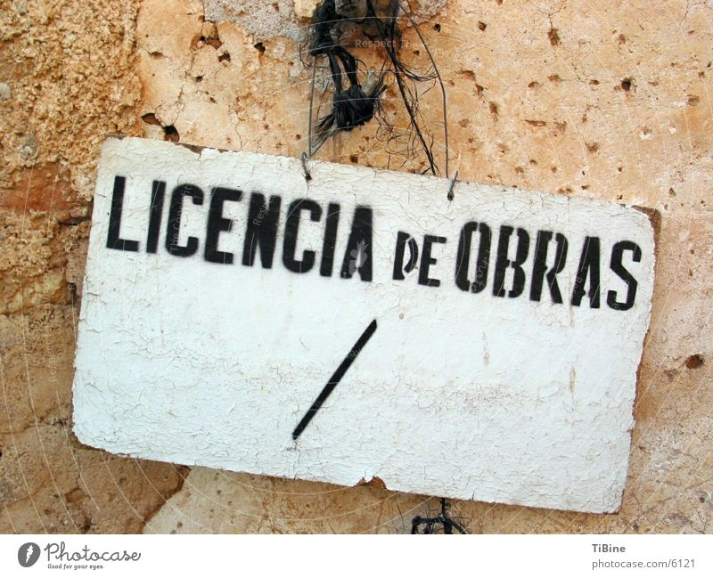 Work permit the second Spain Obscure Signs and labeling work permit Licencia de Obras